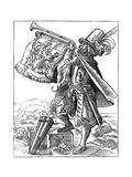Military Trumpeter, 16th Century Giclee Print by Jost Amman