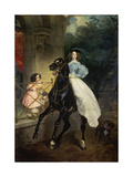 Horsewoman, Portrait of Giovanina and Amazillia Pacini, 1832 Giclee Print by Karl Briullov