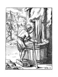 Dyer, 16th Century Giclee Print by Jost Amman