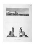 Statues of Memnon, Thebes, Egypt, C1808 Giclee Print by L Petit