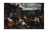 November' (From the Series 'The Seasons), Late 16th or Early 17th Century Giclee Print by Leandro Bassano
