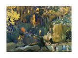 Décor for Debussy's Ballet L'Apres-Midi D'Un Faune (The Afternoon of a Fau), 1912 Giclée-Druck von Leon Bakst