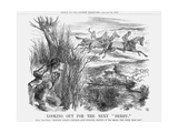 Looking Out for the Next Derby, 1863 Giclee Print by John Tenniel