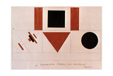Design for the Speaker's Rostrum, 1919 Giclee Print by Kazimir Malevich