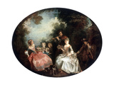 Concert in a Park, 18th Century Giclee Print by Nicolas Lancret