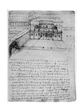 Plan for an Ideal City, 1488-1490 Giclee Print by  Leonardo da Vinci