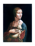 Portrait of Cecilia Gallerani, Lady with an Ermine, C1490 ジクレープリント : レオナルド・ダ・ヴィンチ