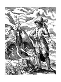 The Miner, 16th Century Giclee Print by Jost Amman