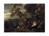 Rest on the Flight into Egypt, 17th Century Giclee Print by Nicolaes Berchem