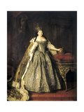 Portrait of Empress Anna Ioannovna, (1693-174), 1730 Giclee Print by Louis Caravaque