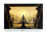 The Courtyard of the Temple of Isis and Osiris Where Sarastro Was High Priest, C1816 Giclee Print by Karl Friedrich Schinkel