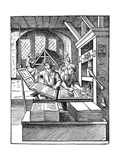 The Printer's Workshop, 1568 Giclee Print by Jost Amman