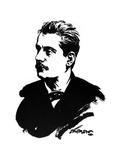 Giacomo Puccini, Italian Composer Giclee Print by Joseph Simpson