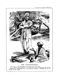 Gandhi Fasting in Support of Untouchables, 1932 Giclee Print by Leonard Raven-hill
