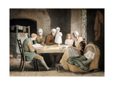 Three Generations Listening to a Reading from the Family Bible, C1800 Giclee Print by Maria Spilsbury