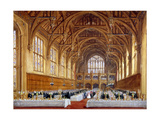 Opening of the New Hall at Lincoln's Inn, Holborn, London, 30th October 1845 Giclee Print by Joseph Nash