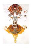 The Firebird, Costume Design for Tamara Karsavina in Stravinsky's Ballet the Firebird, 1910 Giclee Print by Leon Bakst