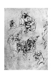 Studies for a Madonna Del Gatto, 15th Century Giclee Print by  Leonardo da Vinci