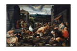 April, 17th Century Giclee Print by Leandro Bassano