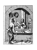 Wire Worker, 16th Century Giclee Print by Jost Amman