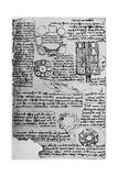 Sketch for Romorantin Castle, 1517-1518 Giclee Print by  Leonardo da Vinci