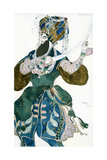 The Shah of Persia, Costume Design for a Ballets Russes Production of Scheherazade, C1913 Giclee Print by Leon Bakst