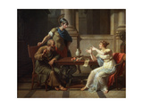 Socrates and Alcibiades at Aspasia, 1801 Giclee Print by Nicolas Andre Monsiau