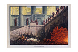 Fire and Water, the Magic Flute, 1816 Giclee Print by Karl Friedrich Schinkel