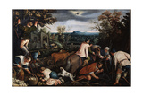 October' (From the Series 'The Seasons), Late 16th or Early 17th Century Giclee Print by Leandro Bassano