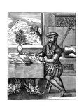 Draughtsman, 16th Century Giclee Print by Jost Amman