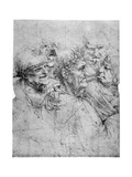 Study of Five Grotesque Heads, C1494 Giclee Print by  Leonardo da Vinci
