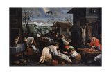 December (From the Series 'The Seasons), Late 16th or Early 17th Century Giclee Print by Leandro Bassano