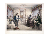 King Louis Philippe, Queen Victoria and Prince Albert in the Royal Carriage, 1846 Giclee Print by Jules David
