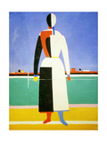 Woman with a Rake, 1928-1932 Reproduction procédé giclée par Kazimir Malevich