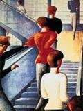 Stairs to the Bauhaus, 1932 Giclée-Druck von Oskar Schlemmer
