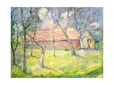 Landscape Near Kiev, 1930 Giclee Print by Kazimir Malevich