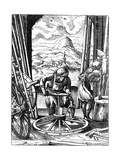 Wheelwright, 16th Century Giclee Print by Jost Amman