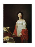 Portrait of the Singer Anna Borunova, 1821 Giclee Print by Nicolas de Courteille