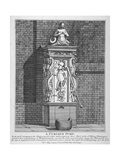 Ornate Water Pump in the Yard at Leathersellers' Hall, Little St Helen's, City of London, 1791 Giclee Print by John Thomas Smith