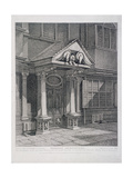 Milton Street, London, 1813 Giclee Print by John Thomas Smith