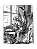 Sculptor, 16th Century Giclee Print by Jost Amman
