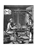 The Weaver, 16th Century Giclee Print by Jost Amman