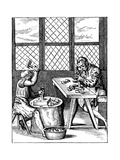 Dice Maker's Workshop, 16th Century Giclee Print by Jost Amman