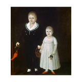 Edward and Sarah Rutter, C1805 Giclee Print by Joshua Johnson