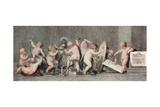 The Fine Arts, 18th Century Giclee Print by Marino Bovi
