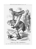 Tuck in Yer Twopenny!, 1867 Giclee Print by John Tenniel