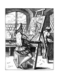Painter, 16th Century Giclee Print by Jost Amman