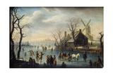 Ice Skaters, 17th Century Impression giclée par Klaes Molenaer