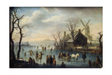 Ice Skaters, 17th Century Giclee Print by Klaes Molenaer