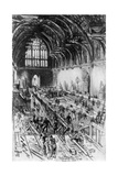 The Workmen in Possession, Westminster Hall, London, 1910 Giclee Print by Joseph Pennell